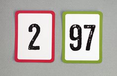 Printable math flash cards ... Numbers 0 to 100. This leads to a very good site for printable's.