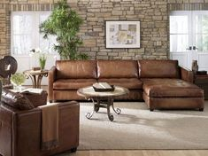 nothing else about this room is good except that delicious leather sectional (Arizona Leather Sectional Sofa by LeatherGroups.com :: Home)