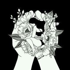 Então ela decidiu transformar suas lágrimas em flores, até que criou um lindo jardim!