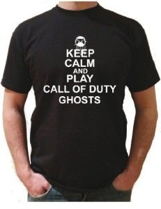 KEEP CALM AND PLAY CALL OF DUTY GHOSTS T-SHIRT available in the UK at http://www.call-of-duty-products-worldwide.com/shopUK/keep-calm-and-play-call-of-duty-ghosts-t-shirt/