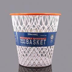Shoot and score with this fun, Spalding Hoopster Wastepaper Basket. Perfect for child's, sports lover's or any room in your home. Made to resemble an authentic basketball hoop, it's a great way to get kids to compete on who can clean the fastest.