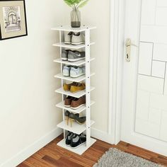 Costway Wooden Shoes Storage Stand 7 Tiers Shoe Rack Organizer Multi-shoe Rack S. Shoe Rack Organization, Closet Storage, Storage Shelves, Shelving, Diy Shoe Organizer, Organization Ideas, Shoe Storage Rack, Shoe Shelves, Box Storage
