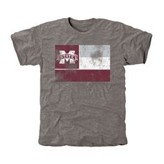 Mississippi State Bulldogs State Flag Tri-Blend T-Shirt - Ash Mississippi State Bulldogs, Georgia Bulldogs, How Bout Them Cowboys, Texas Tech Red Raiders, T Shirts, Flag, College, Ash, My Style