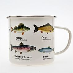 Fish mug, enamel coated