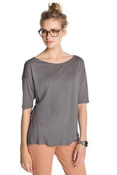 Esprit harmaa pitkähihainen t-paita 29,99 e - storm grey shirt