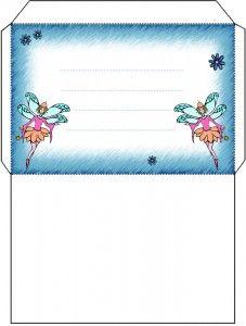 free printable Twin Fairy Envelope