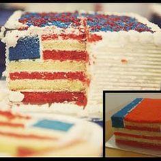 The Hidden American Flag Cake
