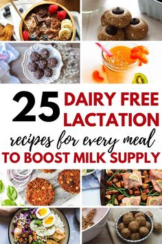 Lactation recipes that will help you make more breast milk. Dairy free breastfeeding meal ideas for breakfast, lunch, dinner, snacks, and desserts. Includes lactation smoothies and healthy lactation cookies. Dairy Free Lactation Recipes, Healthy Lactation Cookies, Lactation Smoothie, Dairy Free Recipes, Baby Food Recipes, Healthy Recipes, Eat Healthy, Dinner Recipes, Sweet Potato Veggie Burger