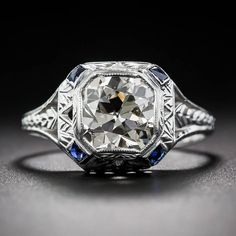 2.10 Carat Art Deco Diamond Engagement Ring image 2