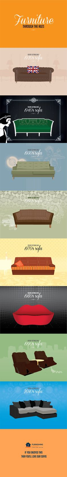 Furniture Design Through The Ages the history of furniture | wordy infographics that explains
