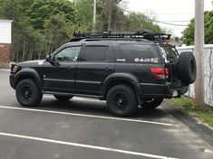 SequoiaOverlander's 2005 Toyota Sequoia with Nitto Ridge Grappler tires on wheels. Toyota 4x4, Toyota Trucks, Lifted Ford Trucks, Toyota Tundra, Classic Trucks, Classic Cars, Toyota Sequioa, Bug Out Vehicle, Best Muscle Cars
