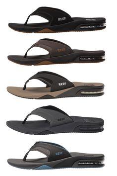 0153f914fd1f0 Sandals and Flip Flops 11504  Reef Fanning Men S Flip Flops Bottle Opener Sandals  Sizes 8 9 10 11 12 13 14 -  BUY IT NOW ONLY   54.95 on eBay!
