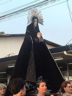 Virgen, grupo de la Pasión. De Manuel, Lico, Rodríguez, Parroquia de San Ramón, Alajuela, Costa Rica