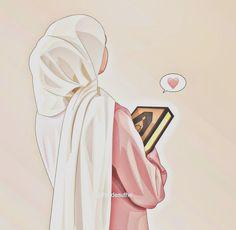 Islamic Girl Images, Islamic Pictures, Cartoon Girl Images, Girl Cartoon, Photos Islamiques, Fashion Illustration Face, Mode Turban, Islam Women, Islamic Cartoon