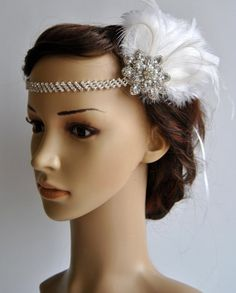 1920's rhinestone flapper headband 1920s by BlueSkyHorizons, $43.00