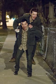 Ian and Mickey they look so happy and in love