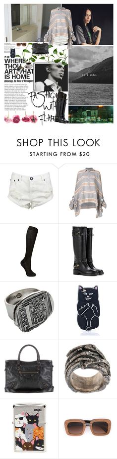 """Без названия #1994"" by azaliya ❤ liked on Polyvore featuring KEEP ME, Costa, One Teaspoon, Prada, Balenciaga, Waxing Poetic, Tobias Wistisen and Enjoi"