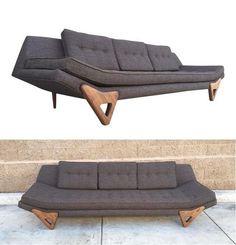 Love the lines of this #midcentury gray sofa I spotted on @chairishco - see all my faves here: https://www.chairish.com/shop/designmilk/favorite/list?utm_source=design-milk.com-homegirls&utm_medium=bloggers&utm_campaign=jaimehg #foundandchairished: