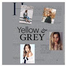 """""""Yellow & Grey"""" by sirine05 on Polyvore featuring art"""