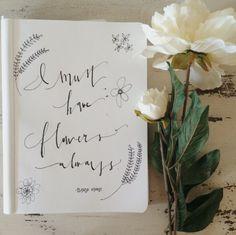 #calligraphy #moderncalligraphy #design #freehand #script #claudemonet #monet #writing #flowers #doodle #jordanstaggs