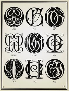 Monograms & Ciphers - 1906 #monograms