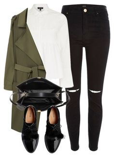 """""""Untitled #6450"""" by laurenmboot ❤ liked on Polyvore featuring River Island, Topshop, MANGO and Balenciaga"""