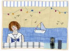Sharon Blackman, instead of a person put a gull on the fence