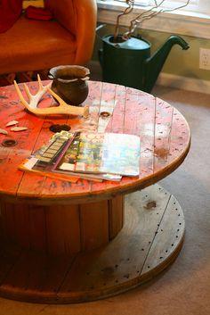 Pops Vintage Spool Table  by bmaloy, via Flickr
