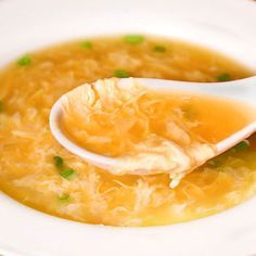 "Quick Egg Drop Soup- I love this! It was the first thing I was taught how to make in ""Home Ec"" class back in the day"