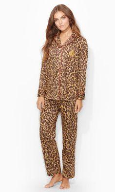 Leopard-Print Pajama Set - Lauren Sleepwear \u0026amp; Robes - RalphLauren.com
