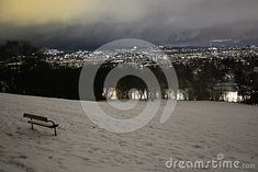 Photo about Vienna at night, in district Image of snow, evenings, winter - 137259636 District 13, Snow Images, Berg, Vienna, Animation, Stock Photos, Night, Winter, Artwork