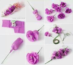 plus de 1000 id es propos de paper flowers sur pinterest origami roses en papier et fleurs. Black Bedroom Furniture Sets. Home Design Ideas