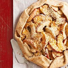Go rustic with a cheddar cheese-topped apple tart that's wrapped in a flaky cheese crust. More baking ideas: http://www.bhg.com/recipes/desserts/pies/make-ahead-pies-tarts/?socsrc=bhgpin012813appletart=9