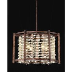 Dark Brown 4-light Crystal Pendant - 13664967 - Overstock.com Shopping - Great Deals on The Lighting Store Chandeliers & Pendants