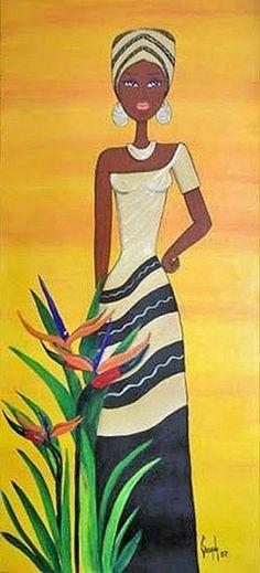 Black Women Art, Black Art, African Quilts, Afrique Art, African Paintings, African Theme, Art Africain, Afro Art, African American Art
