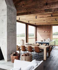 This Australian Farmhouse is an Architectural Wonder Australian Sheds, Interior Architecture, Interior Design, Australian Architecture, Deco Addict, Rural Retreats, D House, Decoration Inspiration, Elegant Homes