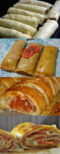 Croissant, Empanadas, Bread Recipes, Buffet, Sausage, Bacon, Food And Drink, Snacks, Cooking