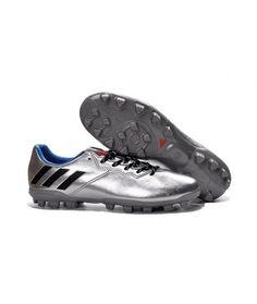 a92916825 footy boots · Adidas Messi 16.3 AG CÉSPED ARTIFICIAL Botas De Fútbol Plata Negro  Azul