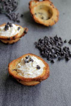 Cookies aux pépites de chocolat, chantilly mascarpone