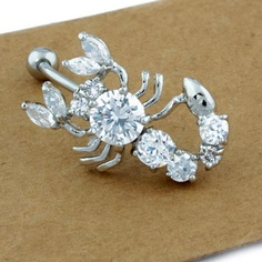SEXY! Scorpion Rhinestone Belly Button Navel Ring from LilyFair Jewelry, only $14.99.