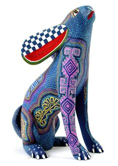 * I feel inspired by the bright colors of these Oaxacan wood carvings. Aren't they beautiful? The carving on the upper banner is by Luis Pablo↑ By Armando Jimenez↓ By Armando Jimenez↓ By Lu…