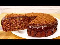 Tort moale la ciocolată este nuci # 226 - YouTube Chocolate Cake With Oil, Snack Recipes, Snacks, Party Desserts, Tiramisu, Delicious Desserts, I Am Awesome, Cheesecake, Good Food