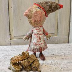 Julie Arkell handmade, unique doll