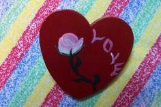 found on Zibbet, Red Heart Pin by monkmama54