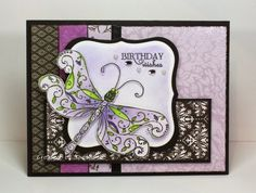 {Love the layers of black patterns. They make the focal point pop. ~ Belle}  MOJO 334 - Crushing on Violet 2