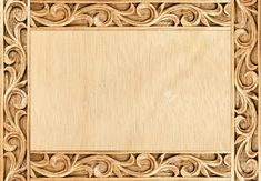 Pattern Of Flower Carved Frame On Wood Background Stock Photo, Picture And Royalty Free Image. Image 14521855.