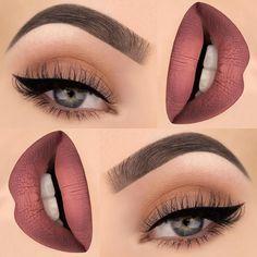 Makeup - Light Red & Orange Lipstick with Cream & Orange Eyeshadow with Black Winged Eyeliner & Mascara Makeup Goals, Makeup Inspo, Makeup Inspiration, Makeup Tips, Makeup Ideas, Makeup Products, Makeup Lessons, Basic Makeup, Drugstore Makeup