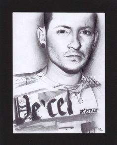 Portrait de Chester Bennington (Linkin Park)  #dessin #portrait #chester #chester_bennington #lp #linkinpark #vecel