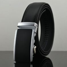 Cheetah automatic buckle leather belts Fashion men belt cowhide belts
