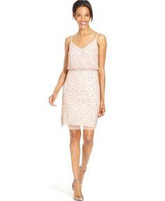 $229 - Adrianna Papell Beaded Blouson Dress